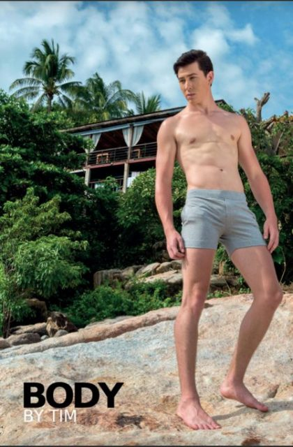 MR Tim body guy in grey shorts - Thai Puan issue 86
