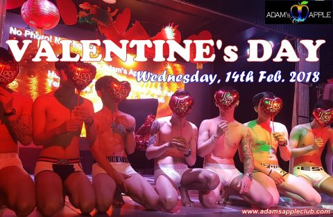 gay valentine party at adams apple club chiang mai