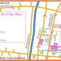 Chiang Mai Gay Soi 6 Map