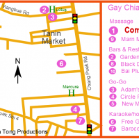 Gay Chiang Mai Map - Chang Puek Gay Venues - May 2018