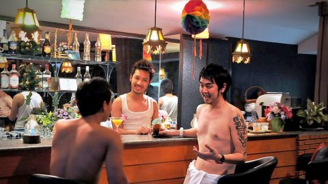 gay cocktail boys at the bar - club one seven
