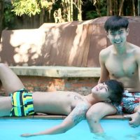 cute boys at club one seven pool chiang mai
