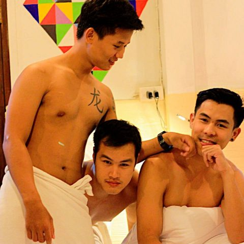 sexy handsome men at club one seven chiang mai