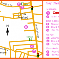 Chiang Mai Gay Map - Chang Puek district gay and LGBT venues
