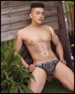 common massage boy sexy army underwear
