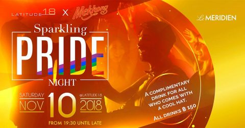 Sparkling Pride night for gay and LGBT at Le Meridien hotel Chiang Mai