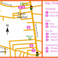 Chiang Mai Gay Map - Chang Puek December 2018
