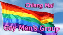 Chiang Mai Gay Men's group rainbow banner