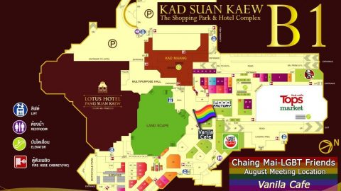 Kad Suan Kaew B1 - Gay Men's group meeting location map