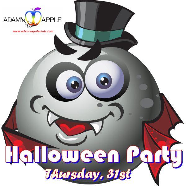 Sexy gay halloween party at adams club - advert