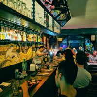 Mellow Mango - Picture of bar and customers - gay bar and bistro in Chiang Mai
