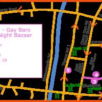 Chiang Mai Gay Map - Night Bazaar April 2021